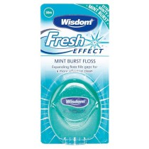Wisdom Fresh Effect Mint Burst Expanding Floss 30m