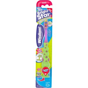 Wisdom Step By Step Bright Star Flashing Children's Toothbrush