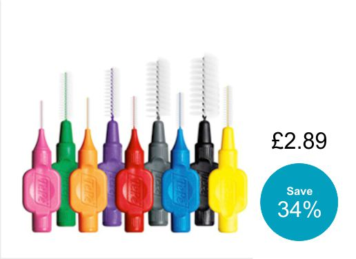 TePe interdentals brushes 8 pack with 35% discount